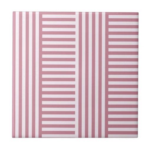 V y rayas amplias simples de H - cordón rosado y P Azulejo Cerámica