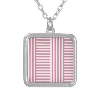 V y rayas amplias simples de H - cordón rosado y P Joyeria Personalizada