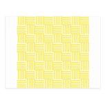 V y rayas de H - amarillas claras y maíz Postal