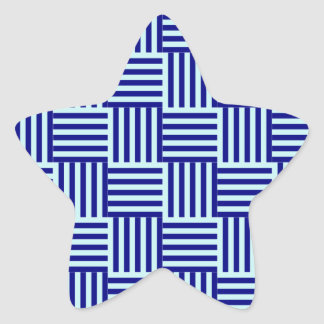 V y rayas de H - azul claro y azules marinos Pegatina En Forma De Estrella