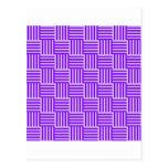 V y rayas de H - cardo y violeta Postal