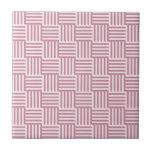 V y rayas de H - cordón rosado y Puce Azulejos Ceramicos