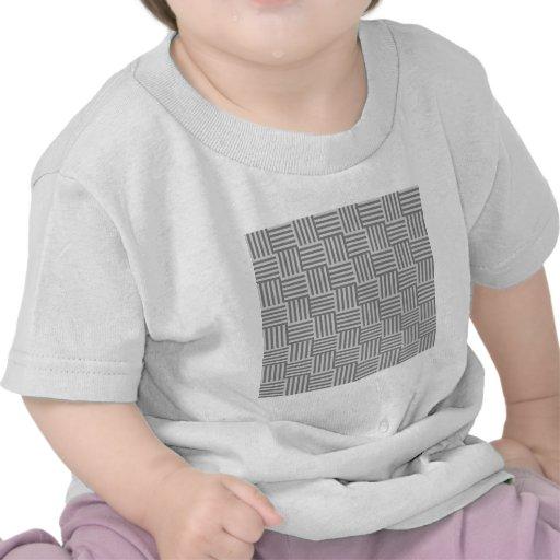 V y rayas de H - grises y grises claras Camisetas
