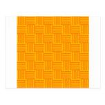 V y rayas de H - naranja y ámbar Postal