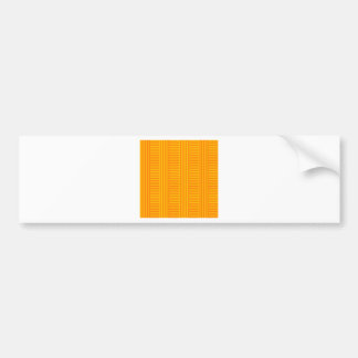V y rayas simples de H - naranja y ámbar Pegatina Para Auto
