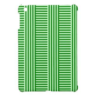 V y rayas simples de H - Offwhitegreen y verde iPad Mini Protector
