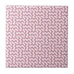 V y zigzag amplio de H - cordón rosado y Puce Tejas