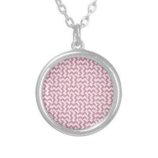 V y zigzag amplio de H - cordón rosado y Puce Joyerías