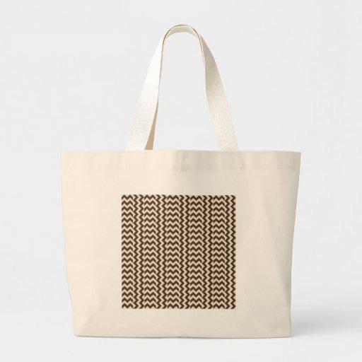 V y zigzag amplio simple de H - almendra y café No Bolsas De Mano