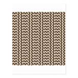 V y zigzag amplio simple de H - almendra y café Postal