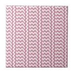 V y zigzag amplio simple de H - cordón rosado y Pu Teja