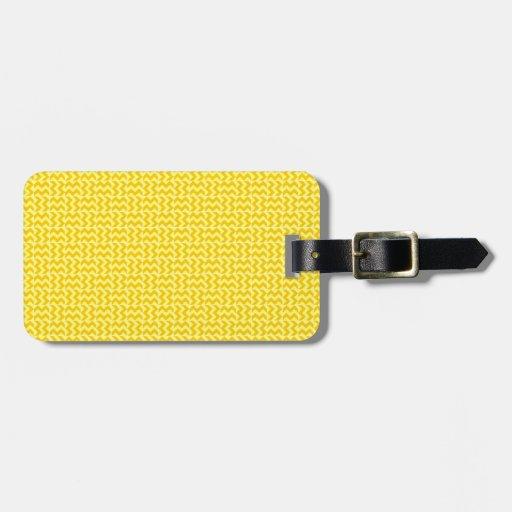 V y zigzag de H - amarillo y amarillo de la mandar Etiqueta Para Maleta
