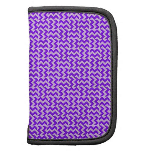 V y zigzag de H - cardo y violeta Planificadores