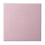 V y zigzag de H - cordón rosado y Puce Azulejos Ceramicos
