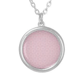 V y zigzag de H - cordón rosado y Puce Collar Personalizado