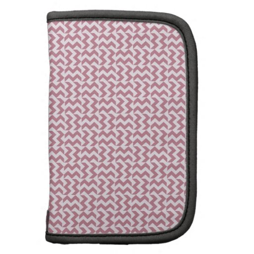 V y zigzag de H - cordón rosado y Puce Organizador