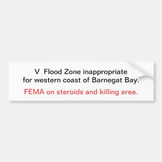 V-Zona inadecuada para la costa occidental de Barn Pegatina Para Auto