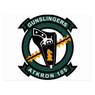 VA - 105 Gunslingers Tarjeta Postal