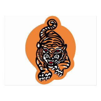 VA-65 los tigres que luchan famosos Postal