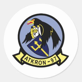 VA-97 Warhawks Classic Round Sticker