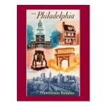 Va a Phila.on la postal del ferrocarril de Pennsyl