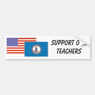 VA--Apoye a nuestros profesores Pegatina Para Auto