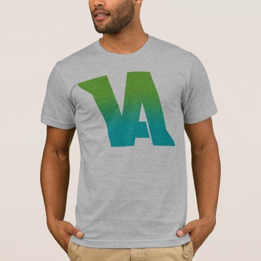 VA Aqua Logo on Heather Grey T-Shirt