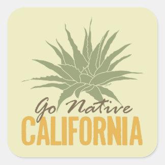 Va California nativa Pegatina Cuadrada