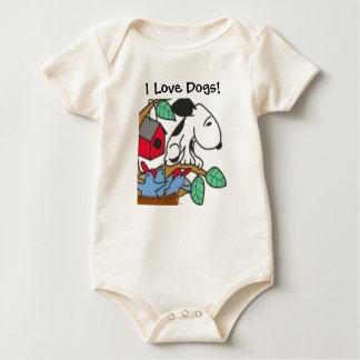 VA- Cartoon I Love Dogs! Baby Outfit Baby Bodysuit