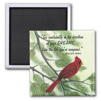 Va con confianza - el imán cardinal rojo brillante