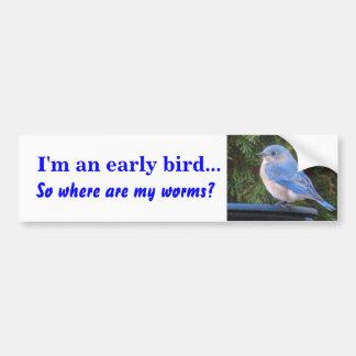 VA- Early bird bumper sticker Car Bumper Sticker
