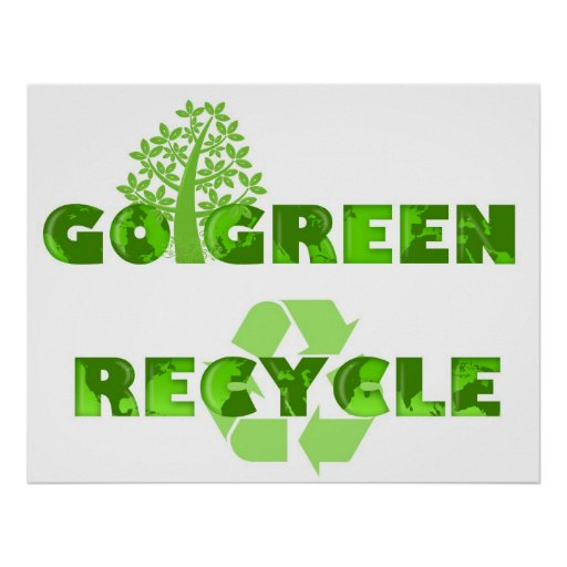 Va el árbol verde de Eco recicla el poster del eje