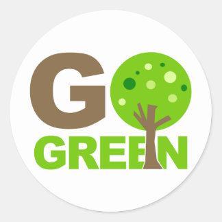 Va el árbol verde etiquetas redondas