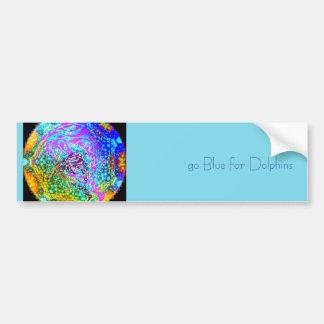 Va el azul para el diseño tribal del arte de los pegatina para auto