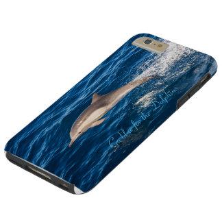 Va el azul para los delfínes que phoen el caso más funda para iPhone 6 plus tough
