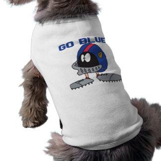 Va el azul camisa de mascota