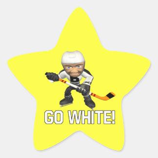 Va el blanco pegatina en forma de estrella