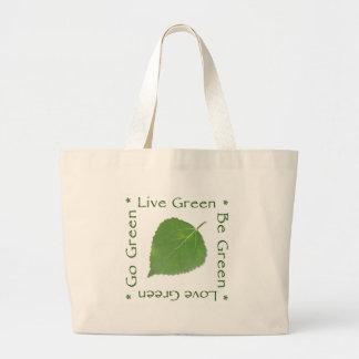 Va el bolso de compras reutilizable verde - negro bolsa tela grande
