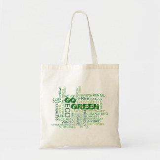 Va el bolso verde de la nube de la palabra bolsa tela barata
