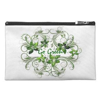 Va el bolso verde del accesorio del viaje