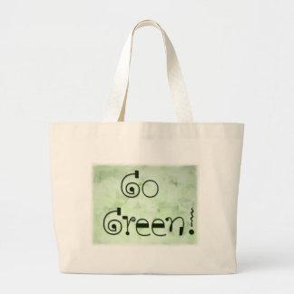 Va el bolso verde - muestre sus colores verdaderos bolsa tela grande