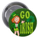 Va el botón irlandés pins