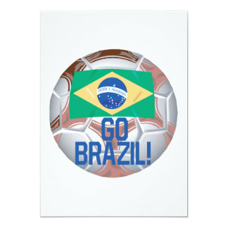 """Va el Brasil Invitación 5"""" X 7"""""""