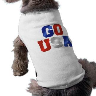 VA el camisetas blanco de los E E U U y azul rojo Camisetas De Perrito