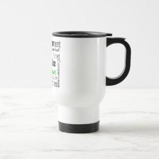 Va el collage verde tazas de café
