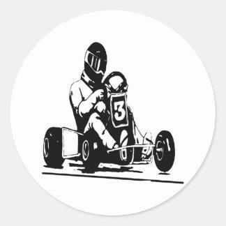 Va el competir con de Kart Pegatinas Redondas