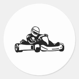 Va el competir con de Kart Pegatina Redonda