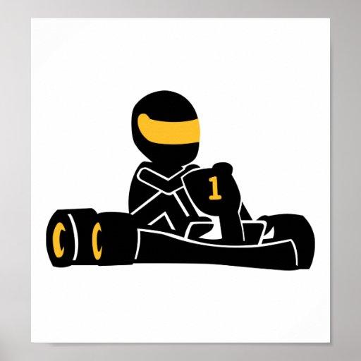Va el competir con de Kart Póster