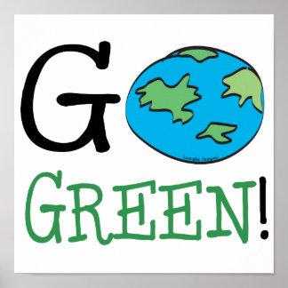 Va el Día de la Tierra verde Poster