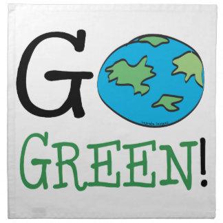 Va el Día de la Tierra verde Servilleta Imprimida